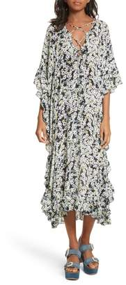 See by Chloe Floral Print Flutter Edge Dress