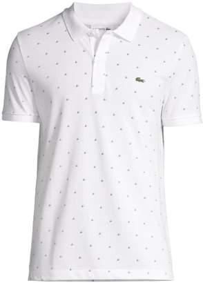 Lacoste Slim-Fit Mini Pattern Cotton Pique Polo