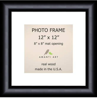 "Amanti Art Steinway Black 12"" X 12"" Matted to 8"" X 8"" Opening Wall Picture Photo Frame"
