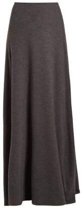 The Row Oda Stretch Cashmere Skirt - Womens - Dark Grey