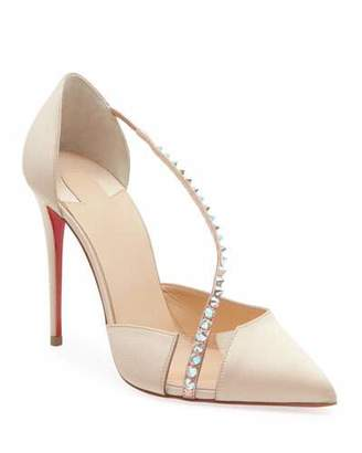 Christian Louboutin Krystal Cross Spike Red Sole Pumps