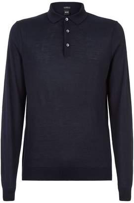 HUGO BOSS Contrast Trim Knitted Polo Shirt