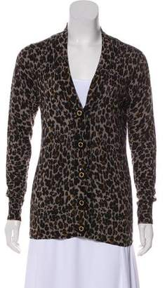 Tory Burch Animal Print Knit Cardigan