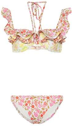 Zimmermann Goldie floral bikini