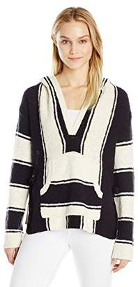 Pam & Gela Women's Striped Baja Sweater