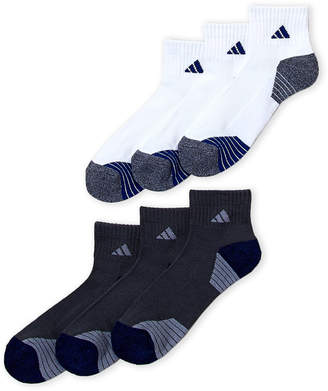 adidas 6-Pack Mini Stripe Quarter Socks