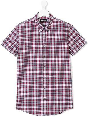 DSQUARED2 short-sleeved checked shirt