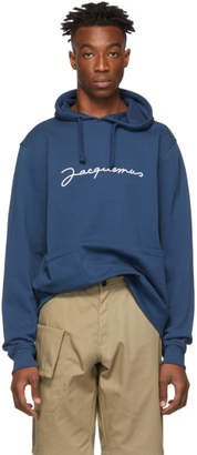 Jacquemus Navy Le Sweat Brode Hoodie