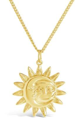 Sterling Forever Moon & Sun Face Pendant Necklace