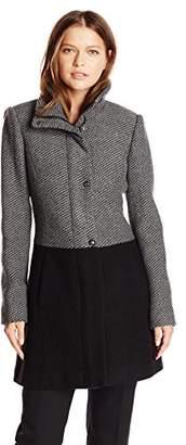Jessica Simpson Women's Color-Block Wool Coat