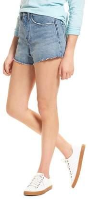 Treasure & Bond High Waist Cutoff Denim Shorts (Medium Vintage Wash)