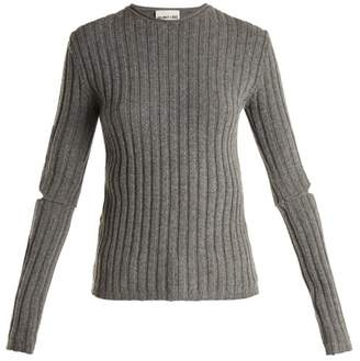 Helmut Lang Elbow Cut Out 1997 Sweater - Womens - Grey