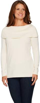 Belle By Kim Gravel Belle by Kim Gravel Off the Shoulder Long Sleeve Sweater