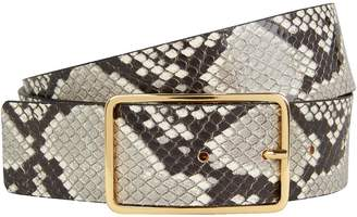 7183dc83feb B-Low the Belt B Low The Belt Mila Python-Printed Leather Belt