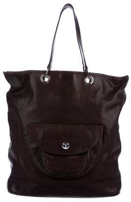 Longchamp Leather Pocket Tote
