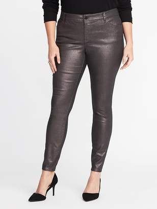 Old Navy High-Rise Smooth & Slim Plus-Size Metallic Rockstar Jeans