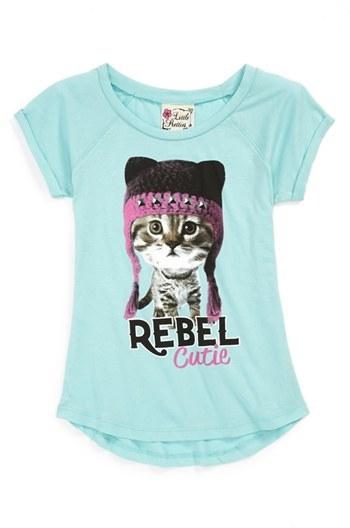 Miken Clothing Little Pretties 'Rebel Cutie' Tee (Toddler Girls)