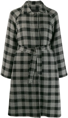RED Valentino belted check coat