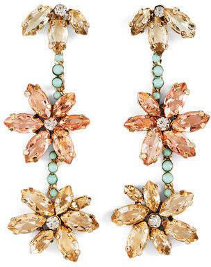 BCBGMAXAZRIA Floral Stone Earring