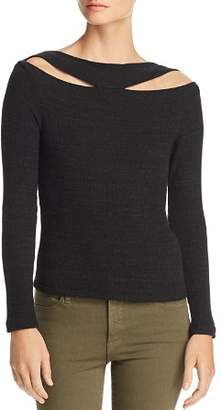 LnA Clyde Ribbed Cutout Sweater