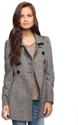 Forever 21 Wool Blend Peplum Coat