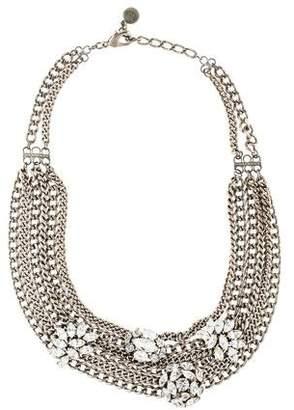 Ben-Amun Ben Amun Crystal Cluster Draped Chain Necklace