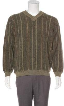 Salvatore Ferragamo Wool V-Neck Sweater beige Wool V-Neck Sweater