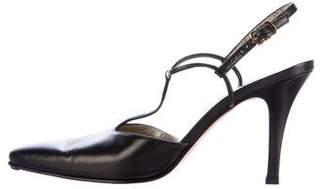 Salvatore Ferragamo Leather Pointed-Toe Pumps