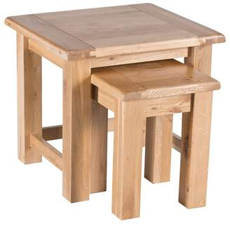 Willis & Gambier Oak 'Normandy' Nest Of 2 Tables