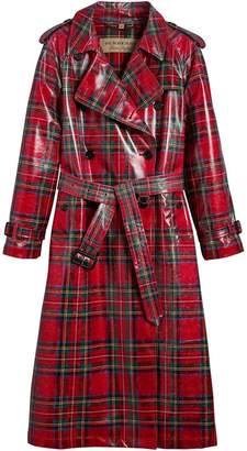 Burberry laminated tartan trench coat