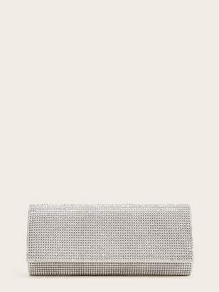 Shein Rhinestone Decor Clutch Bag With Chain Strap