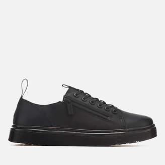 Dr. Martens Men's Dante Zip Softy T Leather 6-Eye Shoes - Black