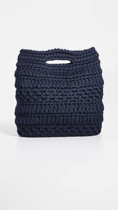 Caterina Bertini Wool Knit Clutch