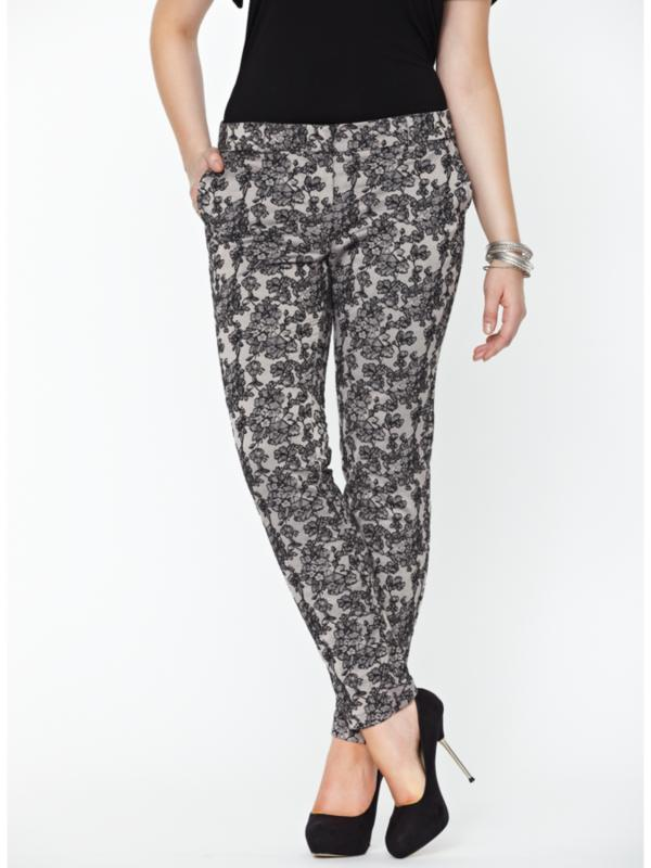 So Fabulous Lace Peg Trousers