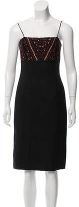 Tracy Reese Embroidered Wool Dress