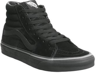 Vans Sk8 Hi Trainers Pirate Black Frost Grey