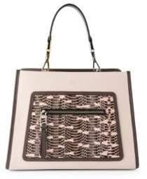 Fendi Small Runaway Snake& Leather Bag