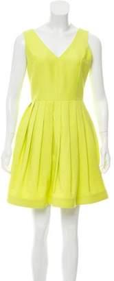 Halston Sleeveless V-Neck Dress