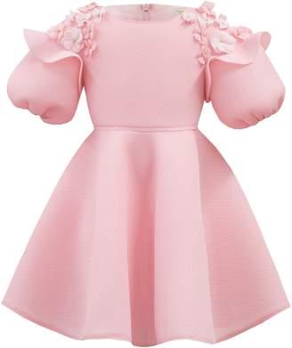 David Charles Floral Applique Dress