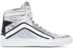 Belstaff Dillion Appliquéd Metallic Leather Sneakers