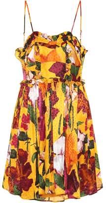 Balenciaga Floral-printed jacquard minidress