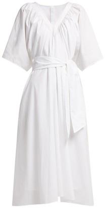 Merlette New York Lante Belted Cotton Dress - Womens - White