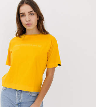 Napapijri Sait cropped t-shirt in yellow