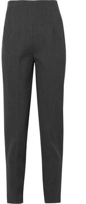 The Row Cat Stretch-wool Twill Tapered Pants - Gray