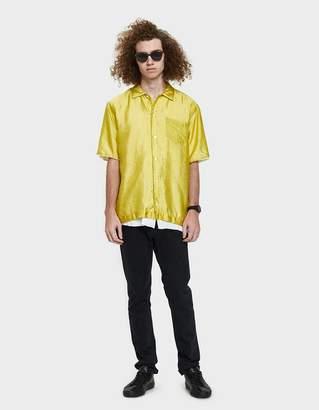 Sacai Silk Grid Shirt in Yellow
