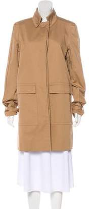 Stella McCartney Button Up Knee-Length Coat