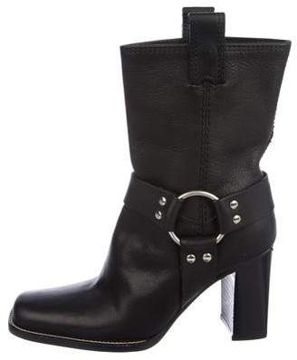 Michael Kors Leather Mid-Calf Boots