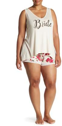 Couture Curvy Bride Ditzy Rose Pajama 2-Piece Set (Plus Size Available)