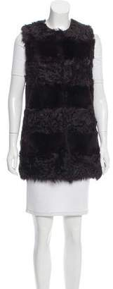 Glamour Puss Glamourpuss Fur Longline Vest w/ Tags