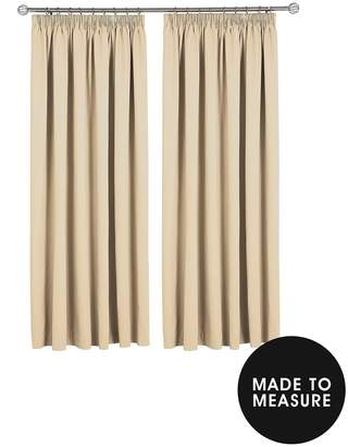 Made To Measure Woven Blackout Pleated Curtains – Oatmeal
